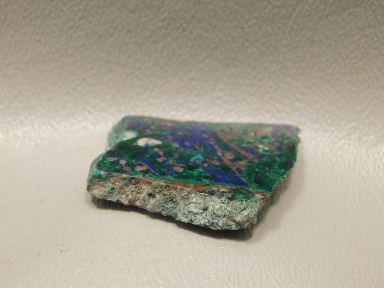 Azurite Malachite Natural Freeform Small Polished Slab Cabochon #S21