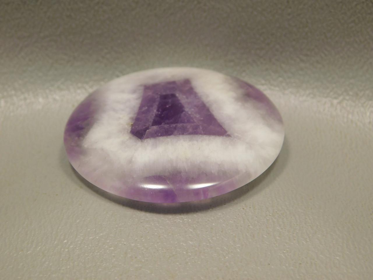 Chevron Amethyst Cabochon 40 mm Round  Semi Precious Gemstone #20