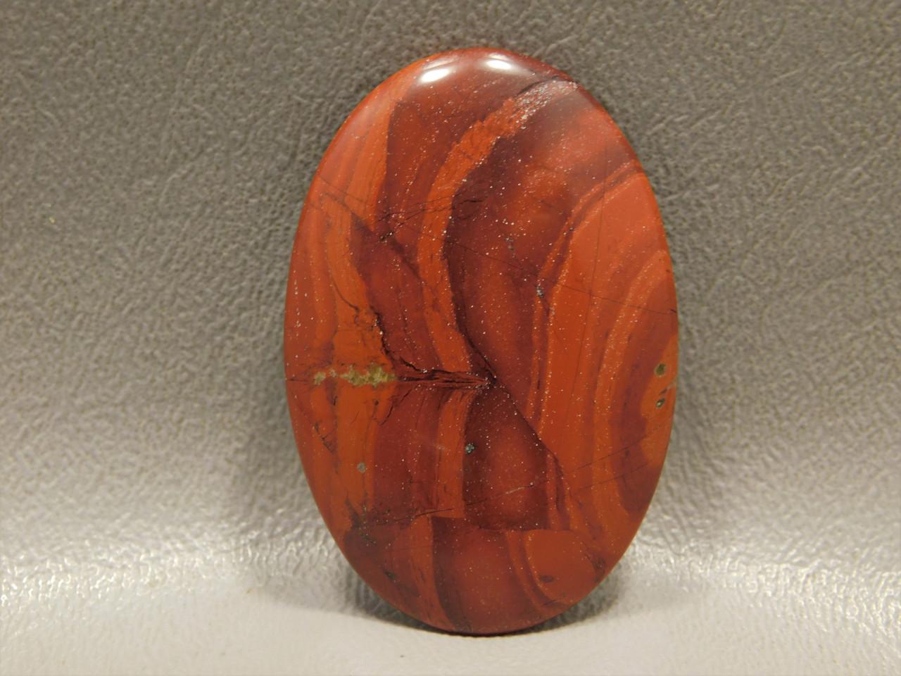 Red Jasper Cabochon Orange Semi Precious Stone #4