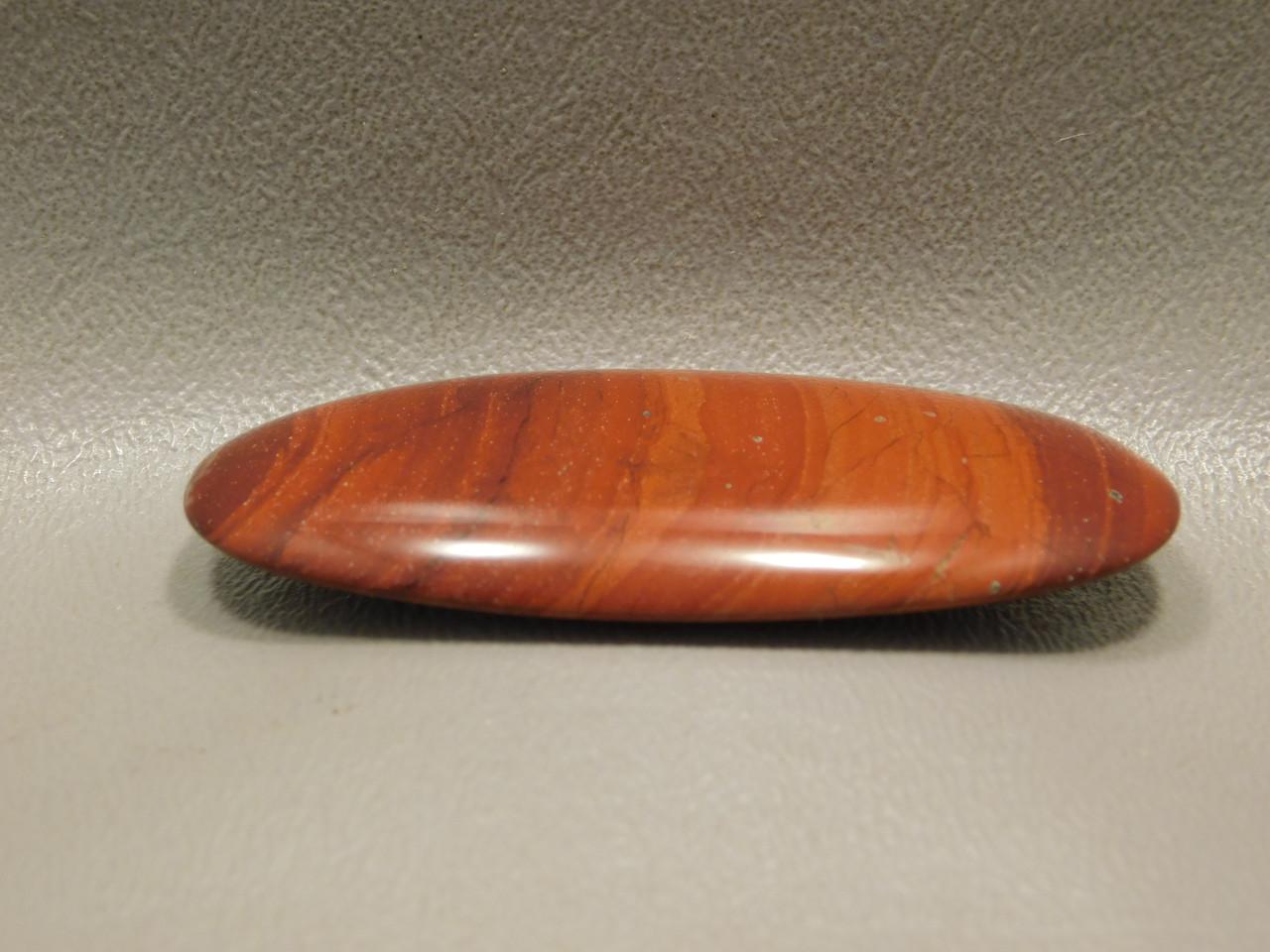 Orangey Red Jasper Cabochon Jewelry Making Supplies #6