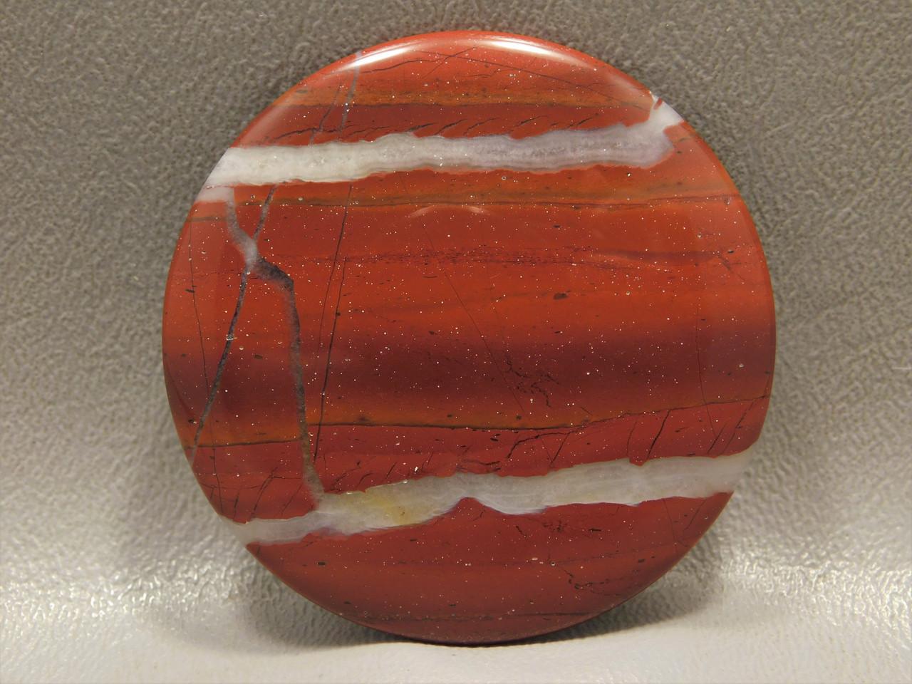 Red White Striped Jasper Cabochon Semi Precious Gemstone #11