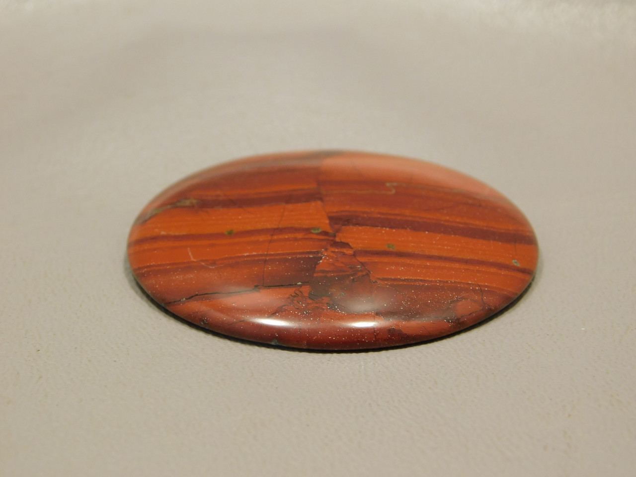 Red Jasper 48.5 mm Round Orange Cabochon Stone #12