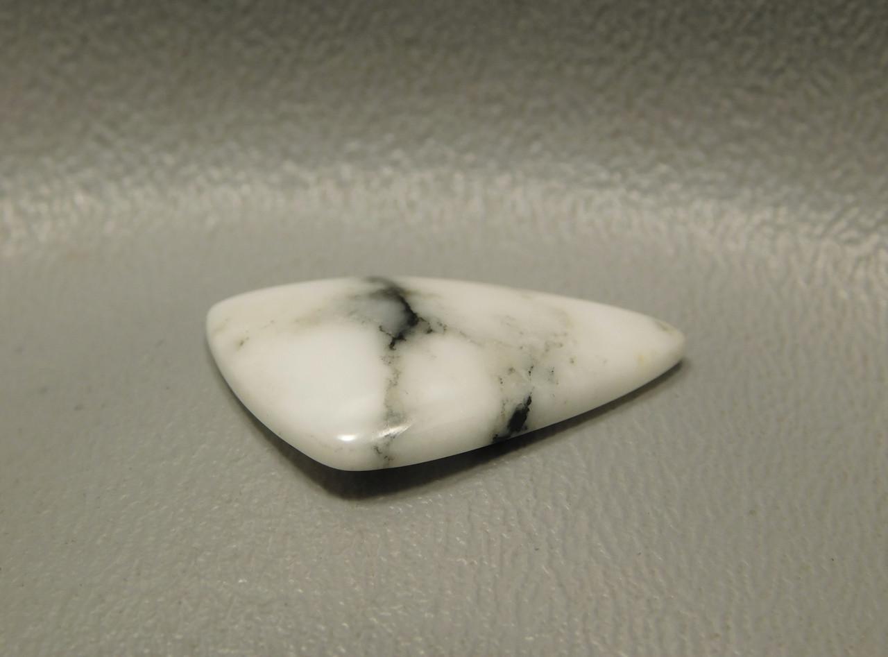 White Cabochon Howlite Cut Stone Semi Precious #19