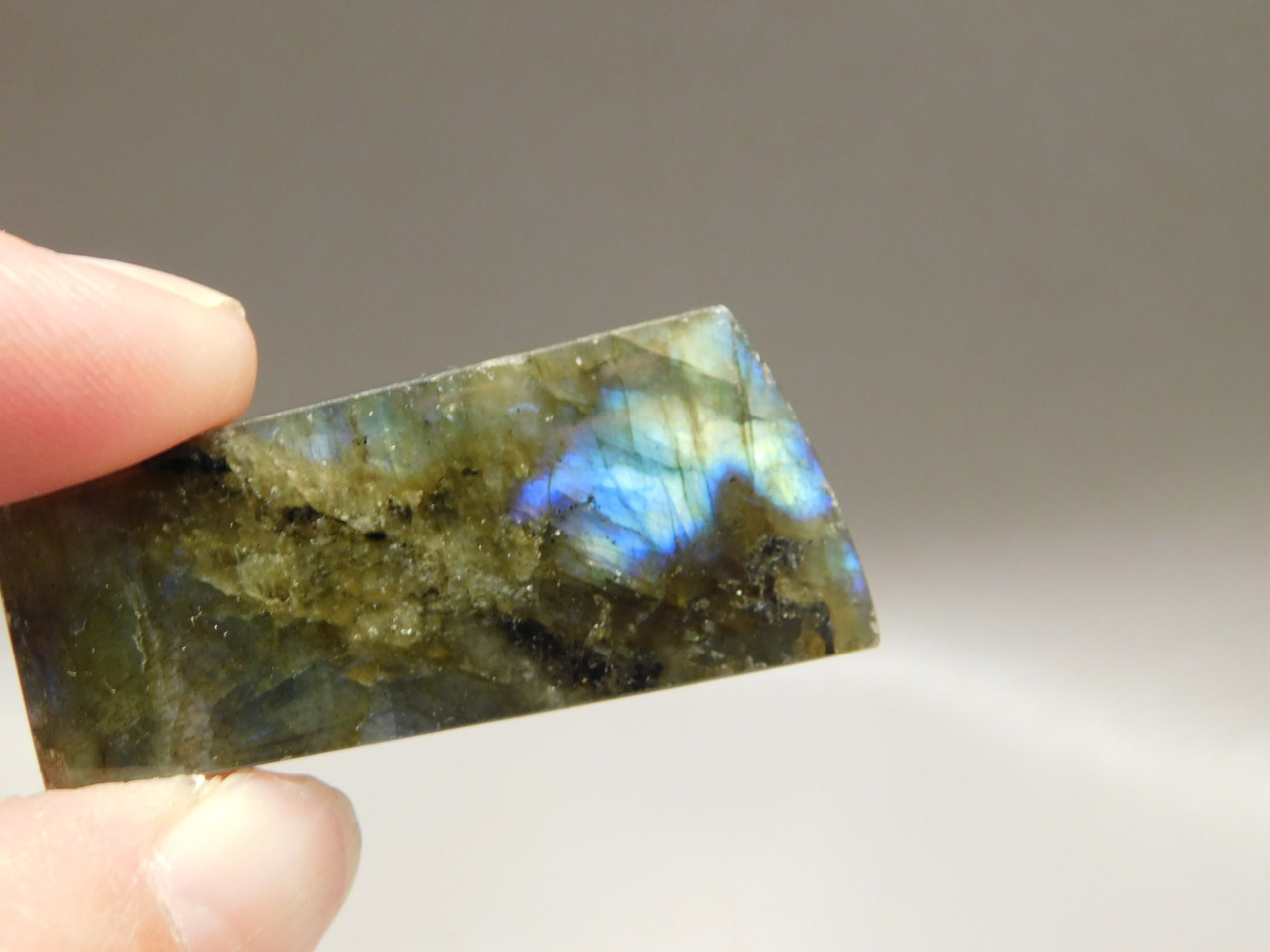 Labradorite Gemstone Bead Pendant  #12
