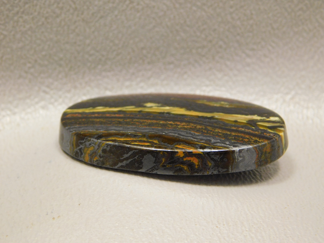 Tiger Iron Golden Flashy Gemstone Cabochon #1