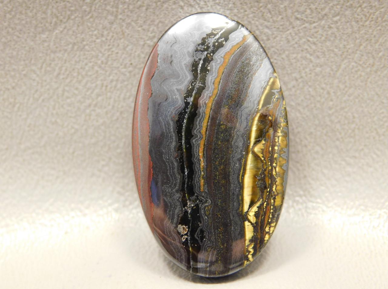 Tiger Iron Semi Precious Stone Cabochon #5
