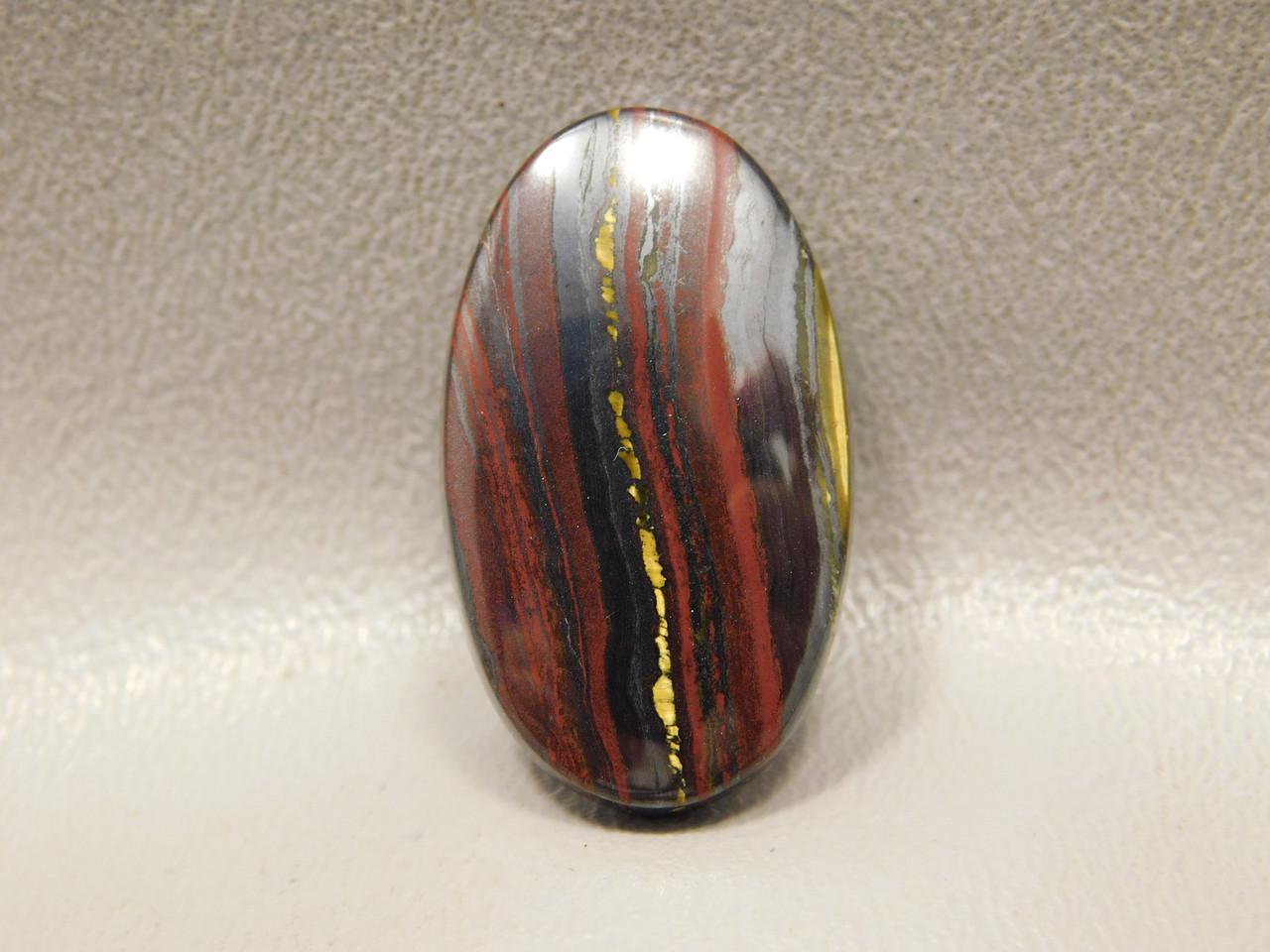 Tiger Iron Semi Precious Gemstone Cabochon #17