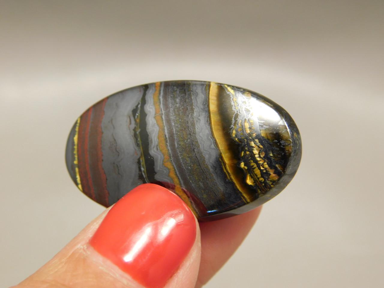 Tiger Iron Stone Cabochon Jewelry Making Supplies #20