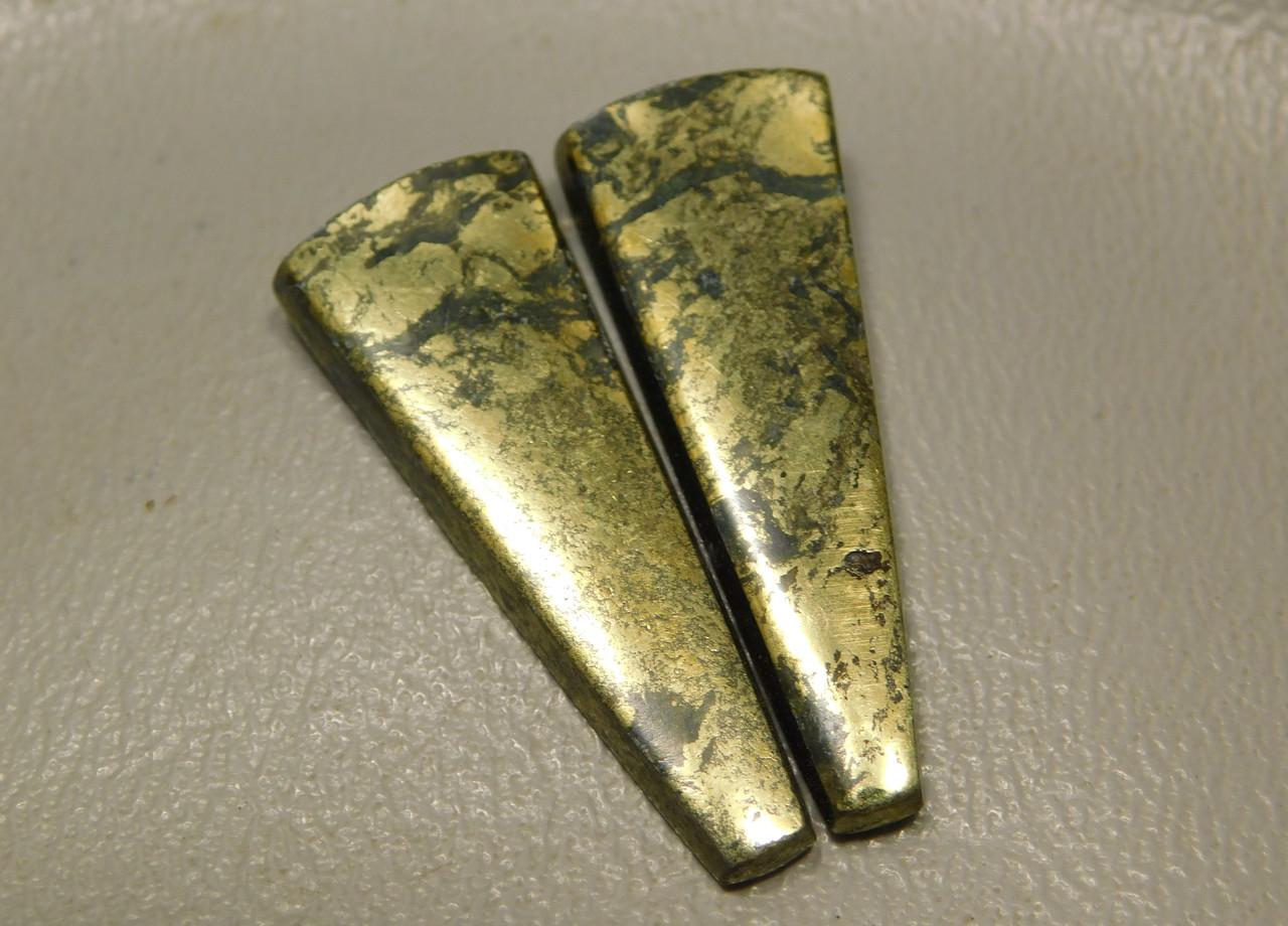 Apache Gold Matched Pair Cabochons Designer Gemstone #11