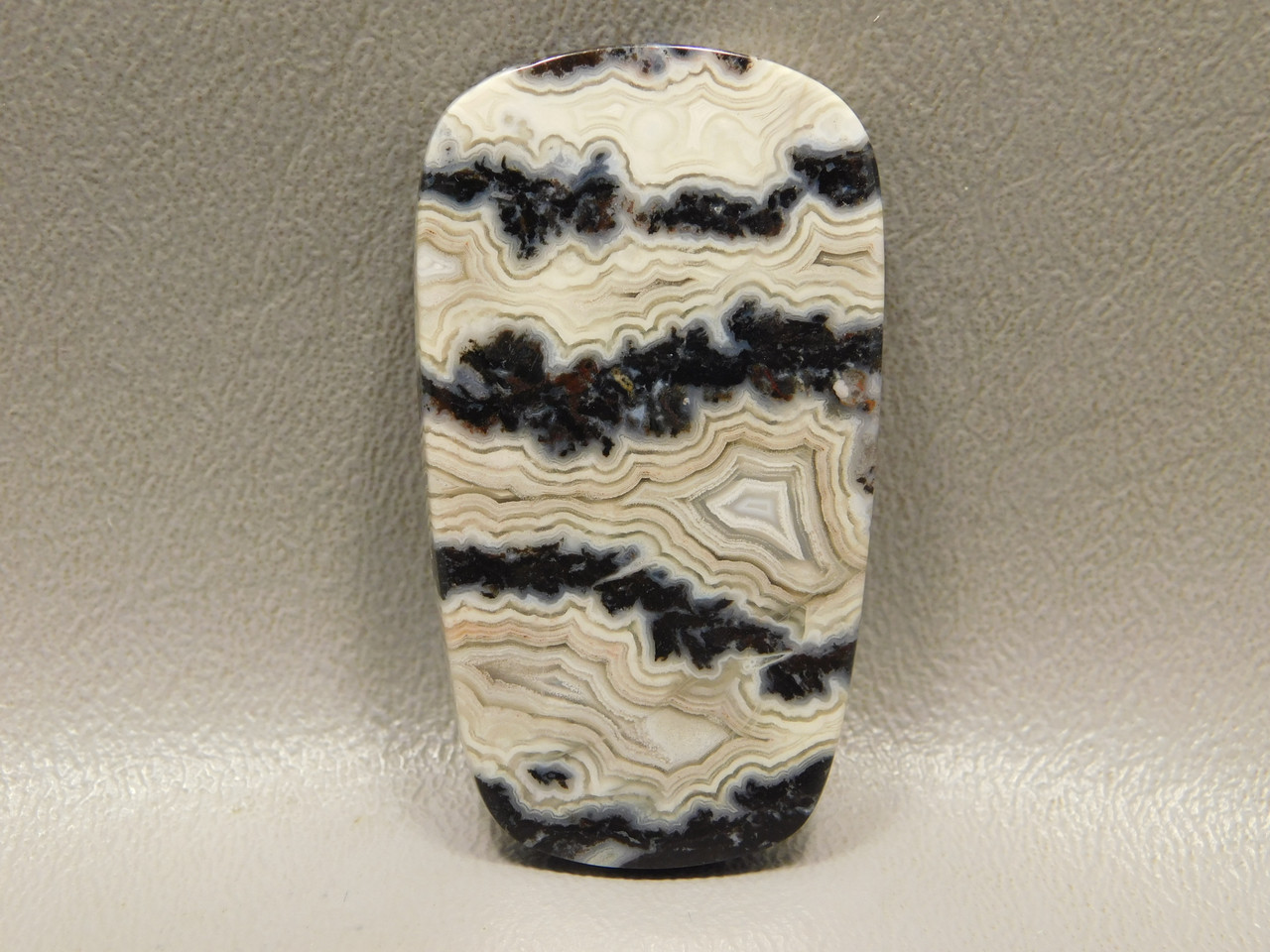 Crazy Lace Agate Ladder Shaped Stone Cabochon #17
