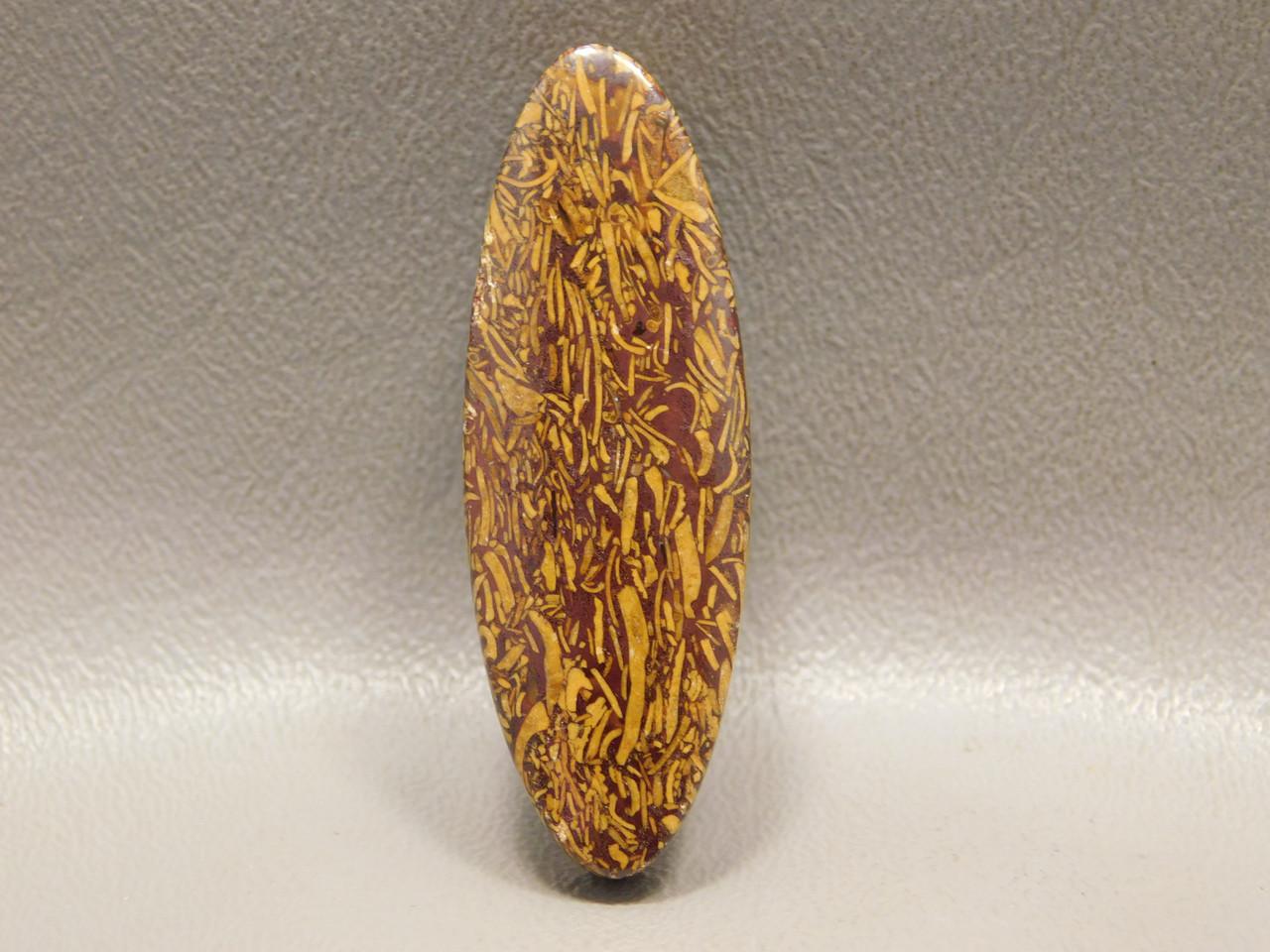 Coquina Jasper (Script Stone) Bead Pendant #1