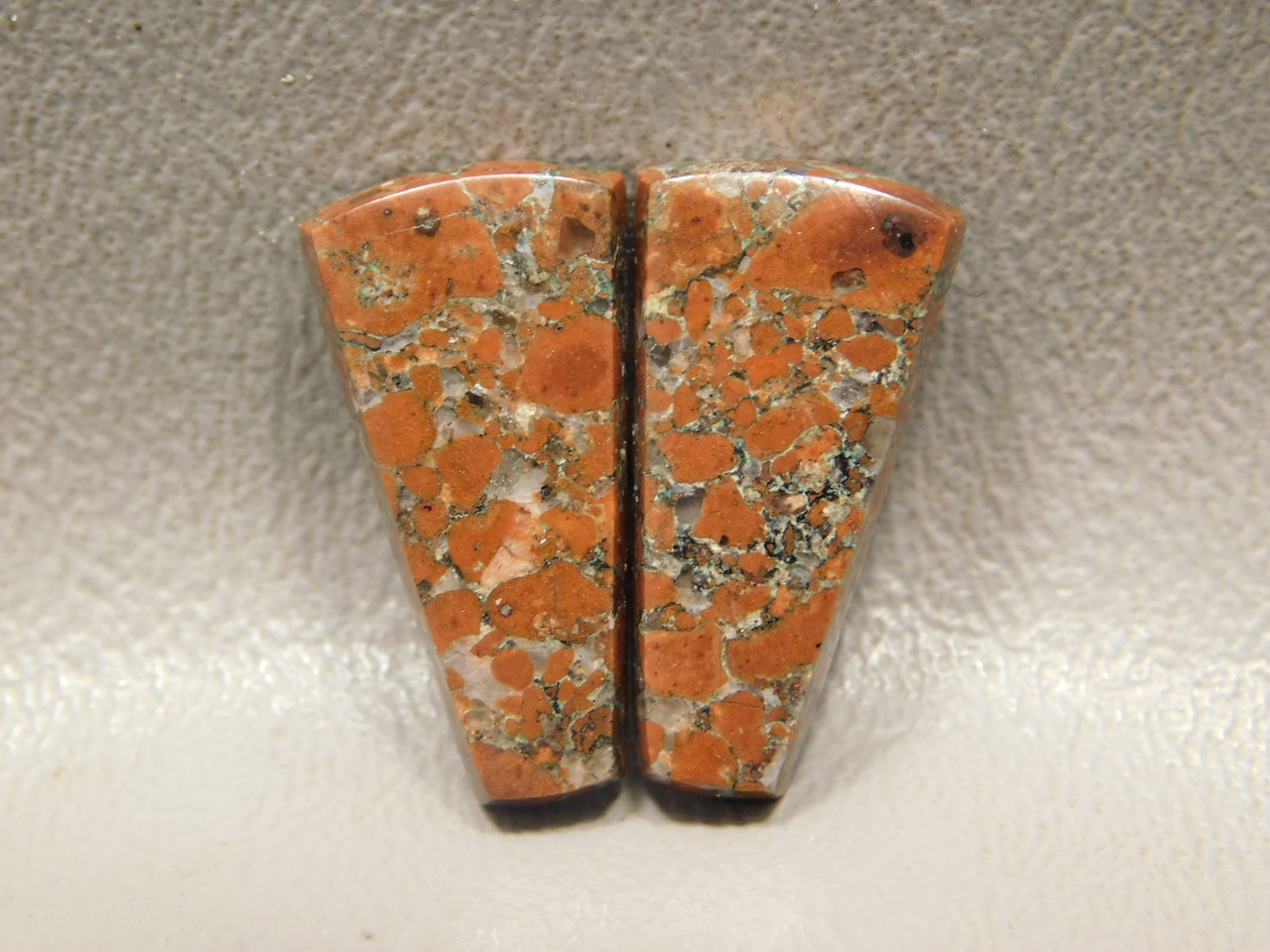 Copper Rose Semi Precious Gemstone Matched Pair Cabochons #3