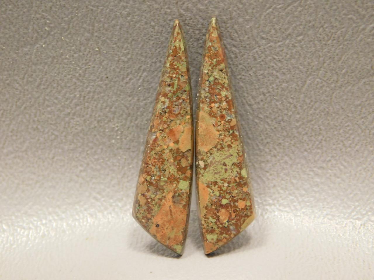 Copper Rose Semi Precious Gemstone Matched Pair Cabochons #6