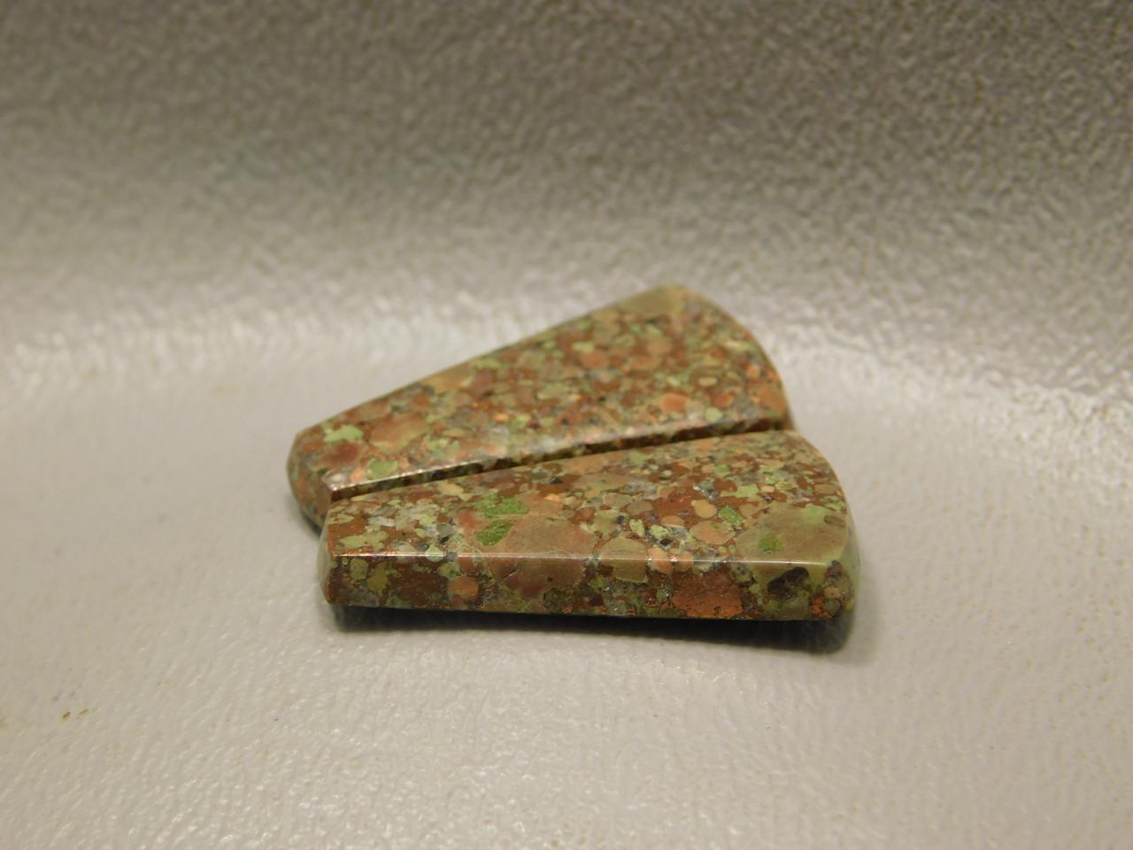 Copper Rose Semi Precious Gemstone Matched Pair Cabochons #8