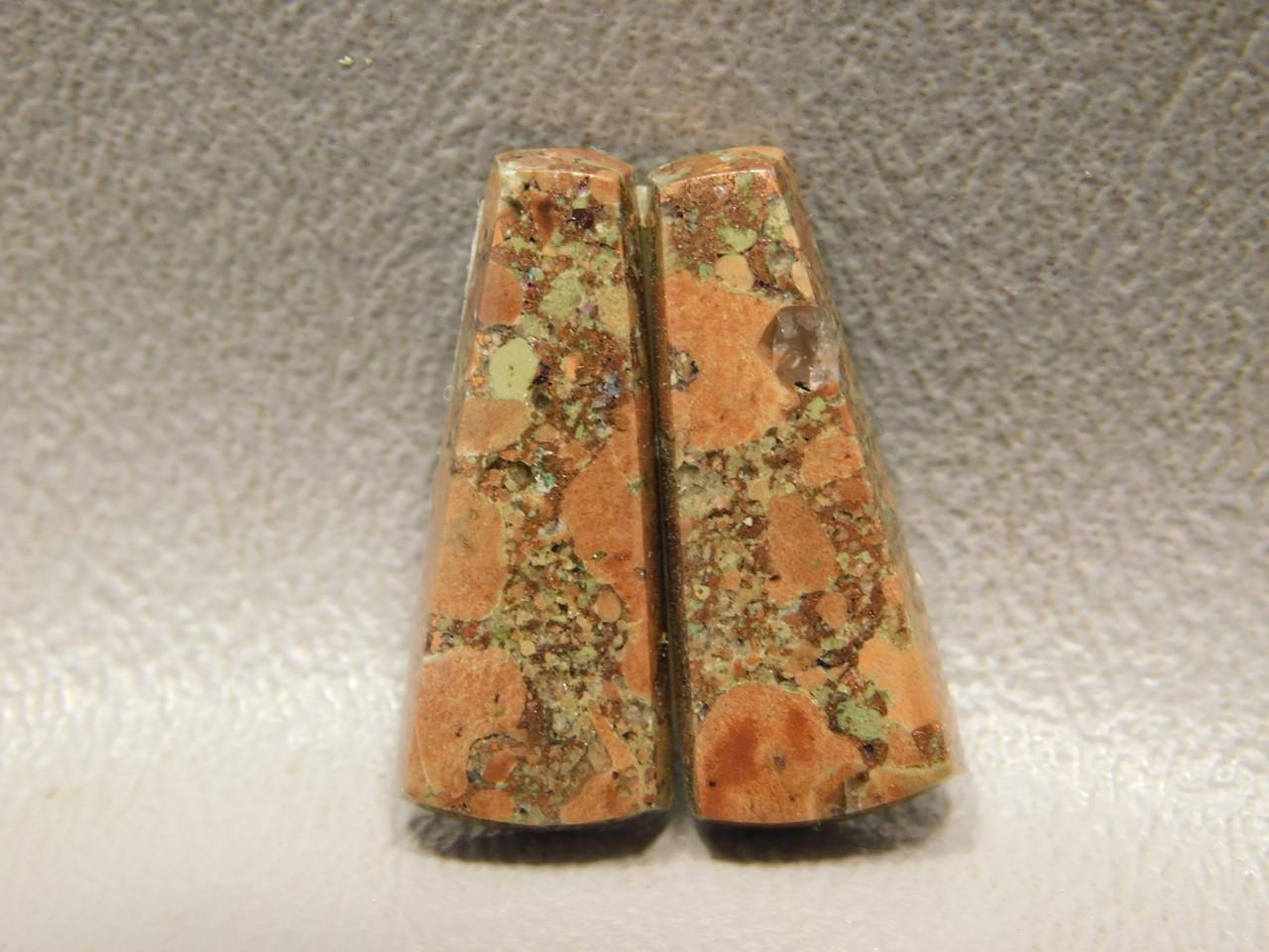 Copper Rose Semi Precious Gemstone Matched Pair Cabochons #9