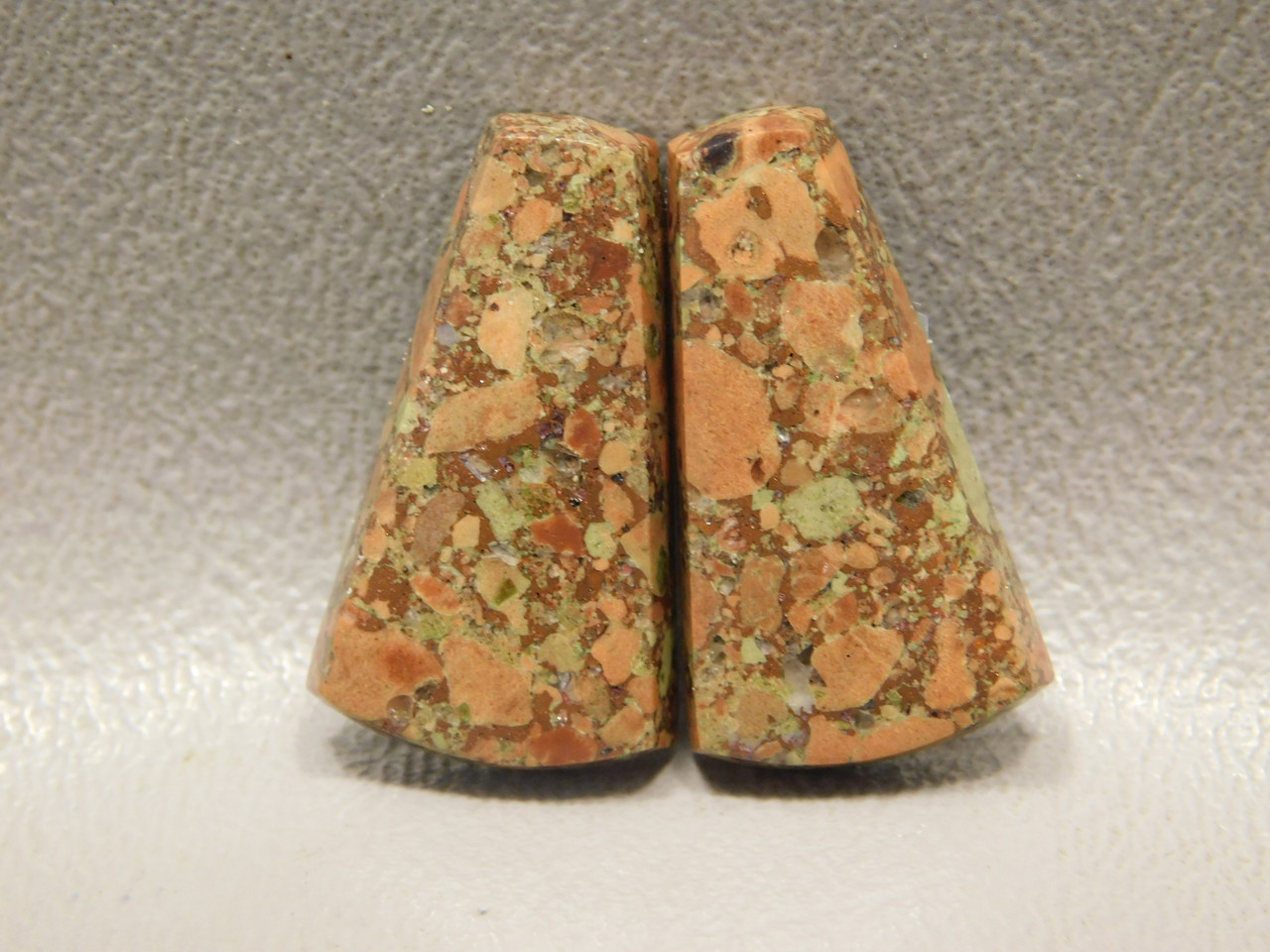 Copper Rose Michigan Gemstone Matched Pair Cabochons #14