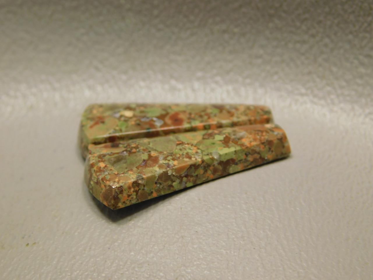 Copper Rose Semi Precious Gemstone Matched Pair Cabochons #15