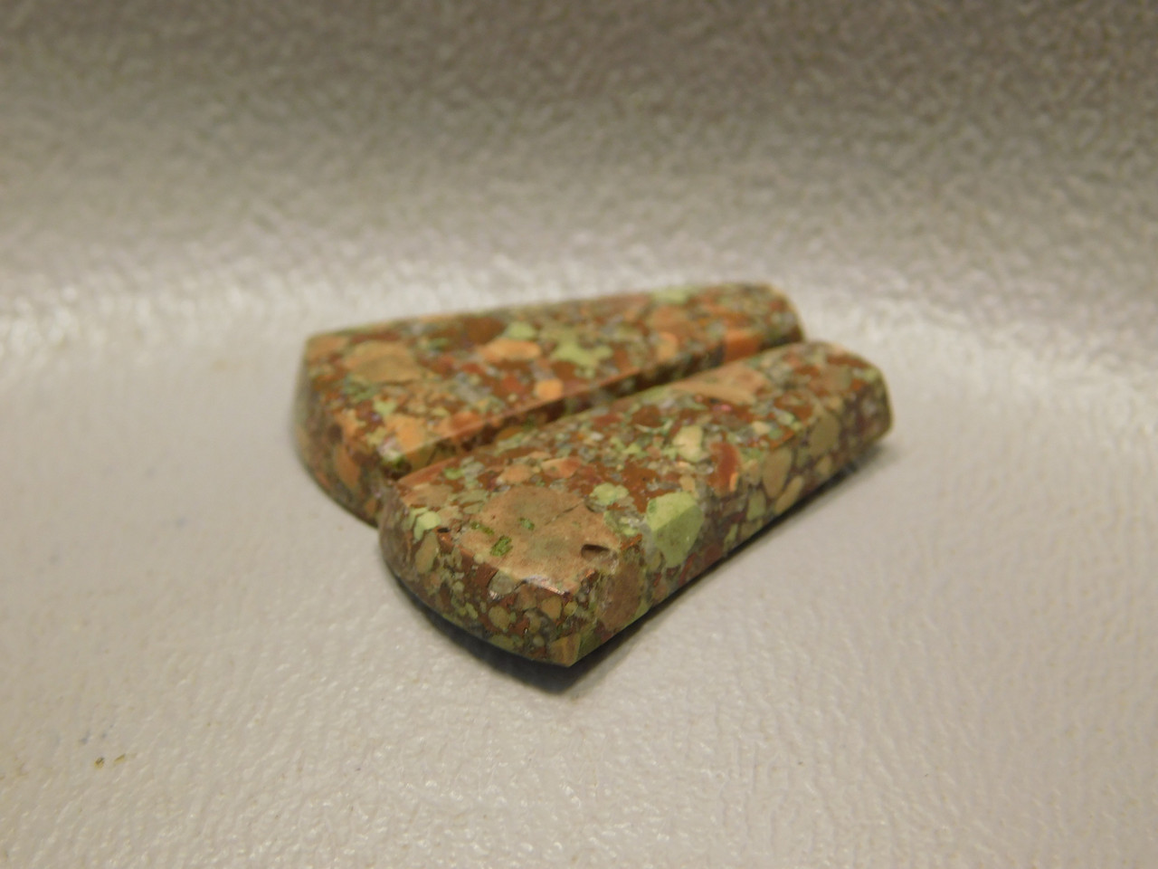 Copper Rose Semi Precious Gemstone Matched Pair Cabochons #18