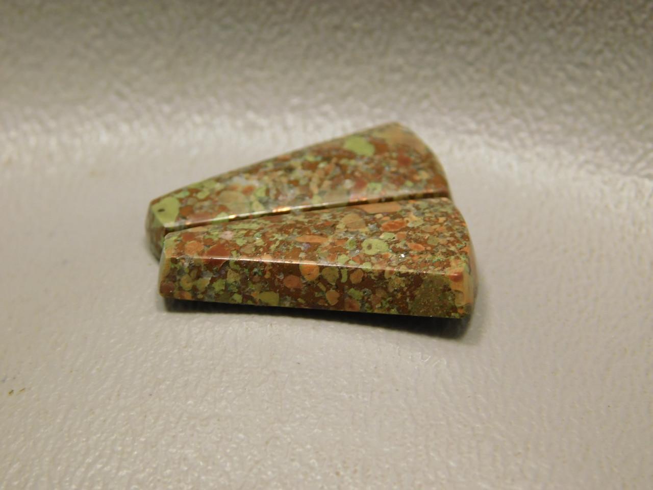 Copper Rose Semi Precious Gemstone Matched Pair Cabochons #19