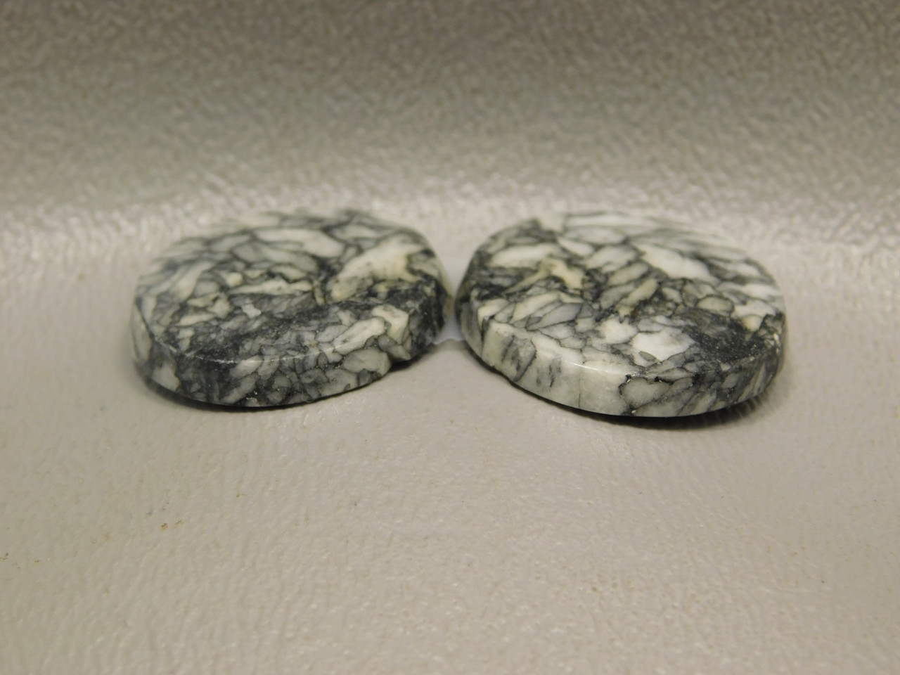 Pinolith or Pinolite Austria Matched Pair Stone Cabochons #9