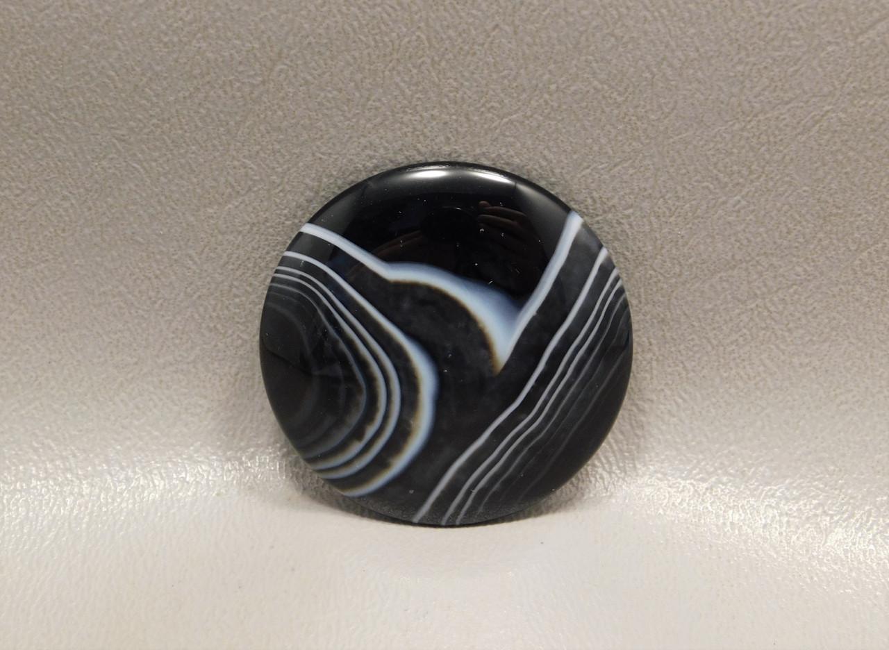 Tuxedo Agate Black and White Designer Cabochon Gemstone #20
