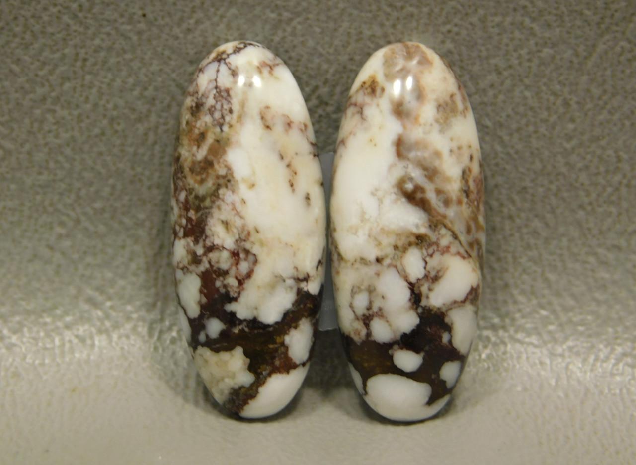 Wild Horse Matched Pair Cabochons Semi Precious Gemstones #5