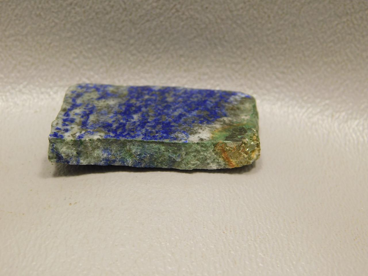 Blue and White Lapis Natural Freeform Slab Cabochon #S11