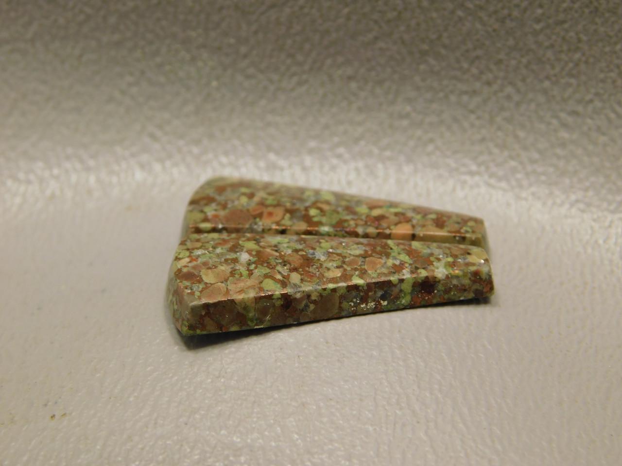 Copper Rose Semi Precious Stones Matched Pair Cabochons #7