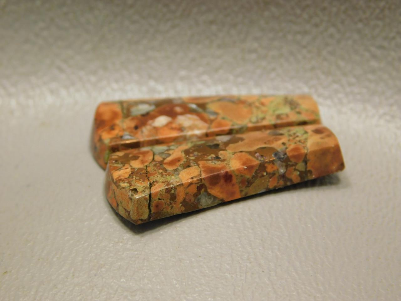 Copper Rose Semi Precious Gemstone Matched Pair Cabochons #12