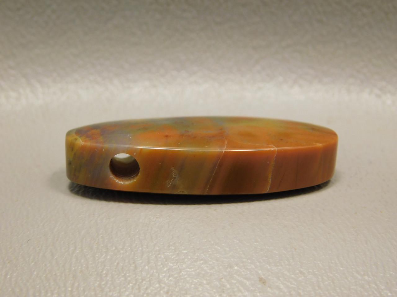 Arizona Rainbow Petrified Wood Stone Bead Pendant #4