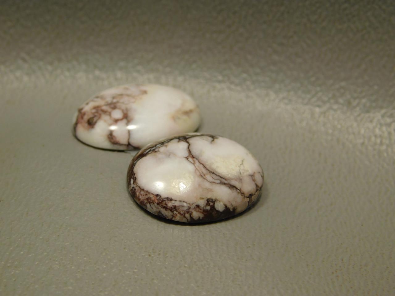 Wild Horse Matched Pair Cabochons Semi Precious Gemstones #11