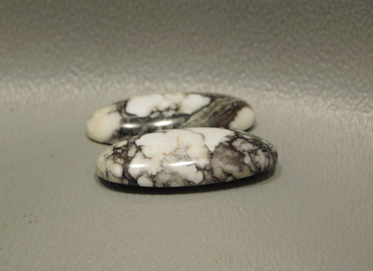 Wild Horse Semi Precious Gemstone Cabochons Matched Pair for Earrings  #19