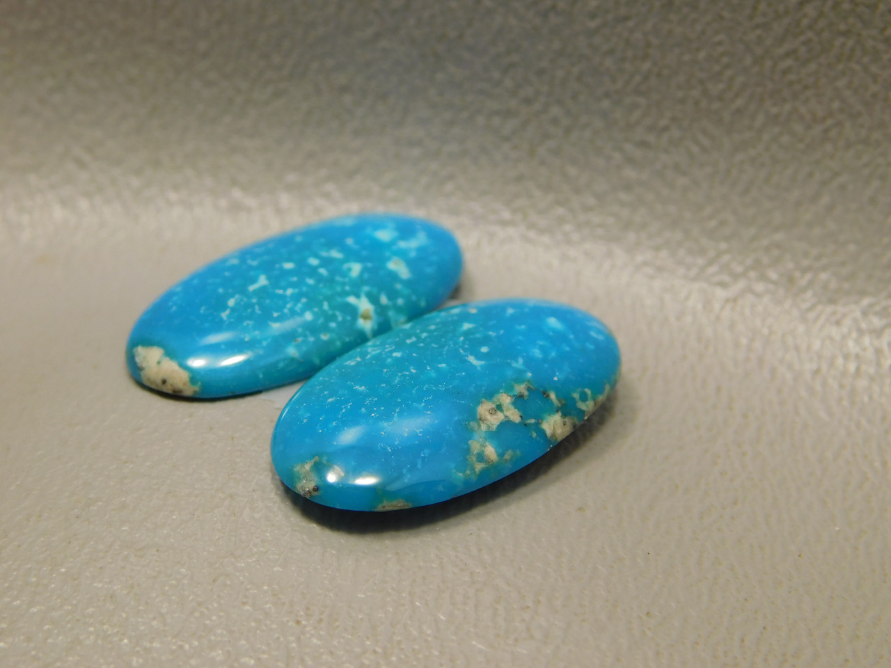 Turquoise Matched Pair for Earrings Cabochons Ovals Stones #3