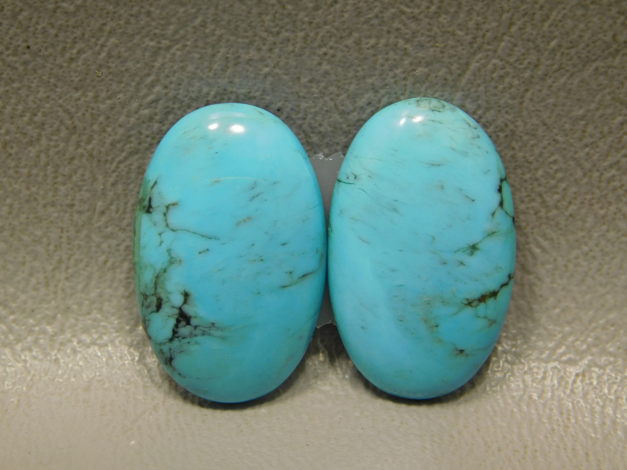 Turquoise Matched Pair Loose Stone Cabochons #8