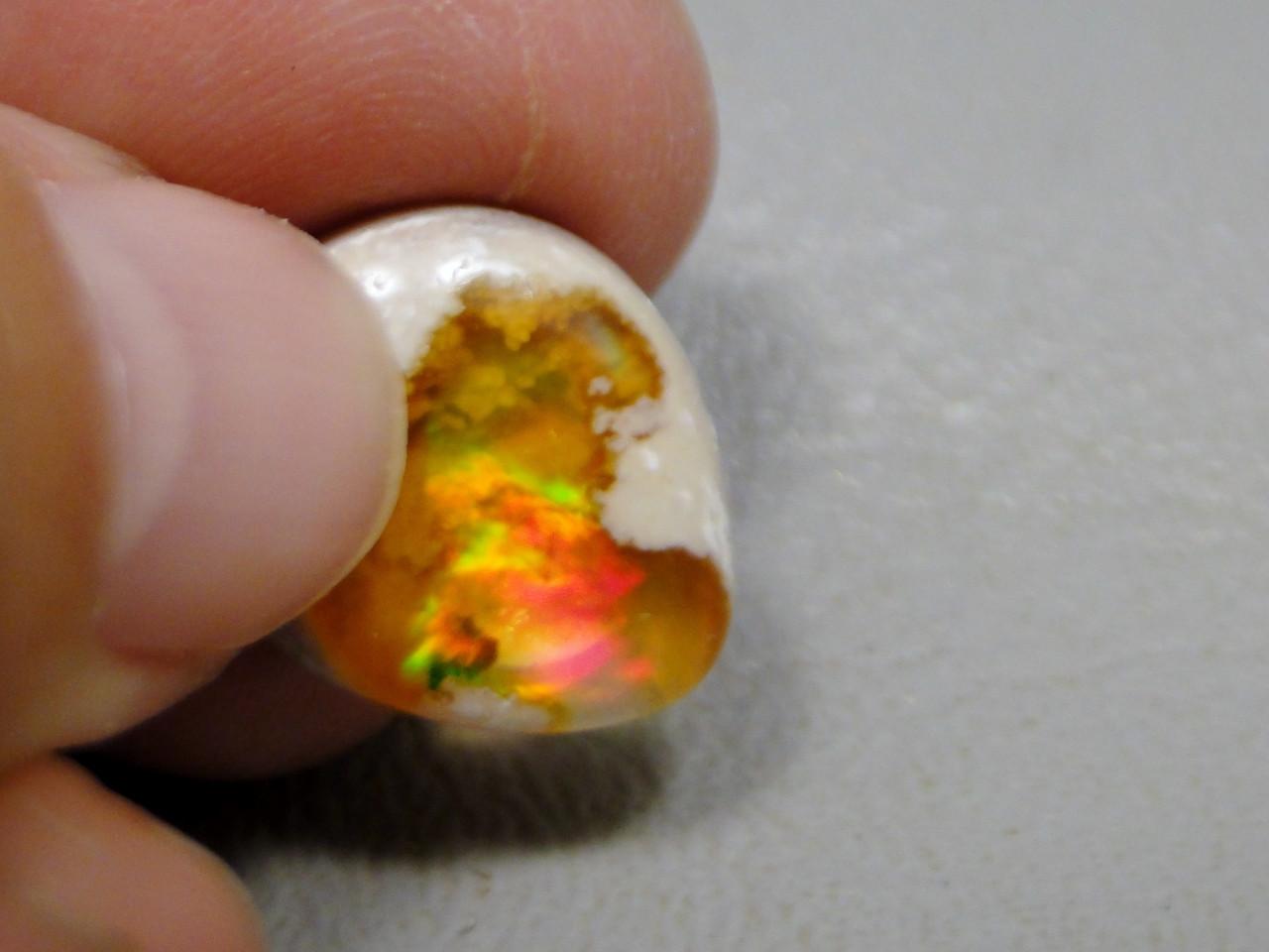 Mexican Fire Opal Cabochon Semi Precious Gemstone #19