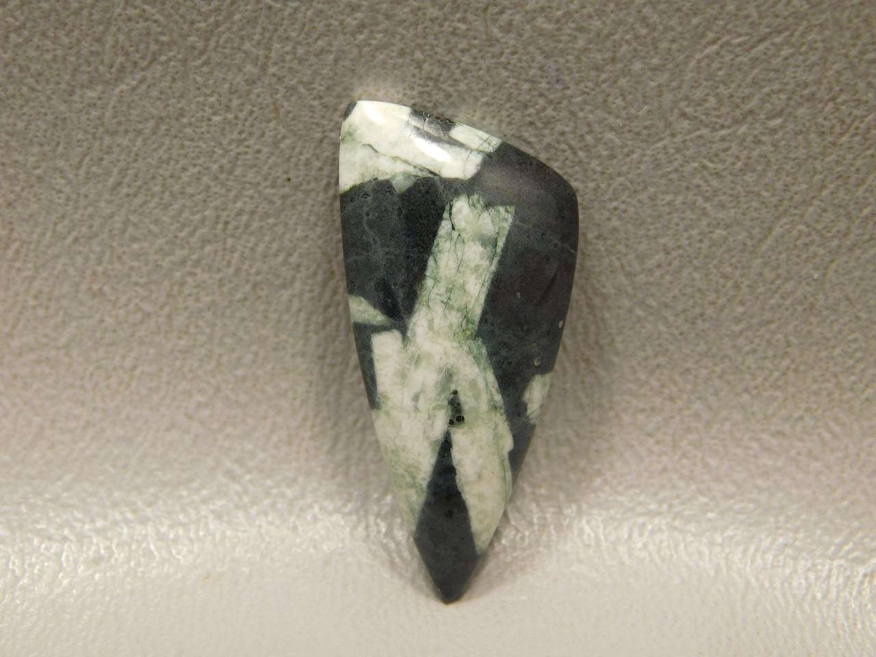 Chinese Writing Rock Designer Cabochon Stone #16