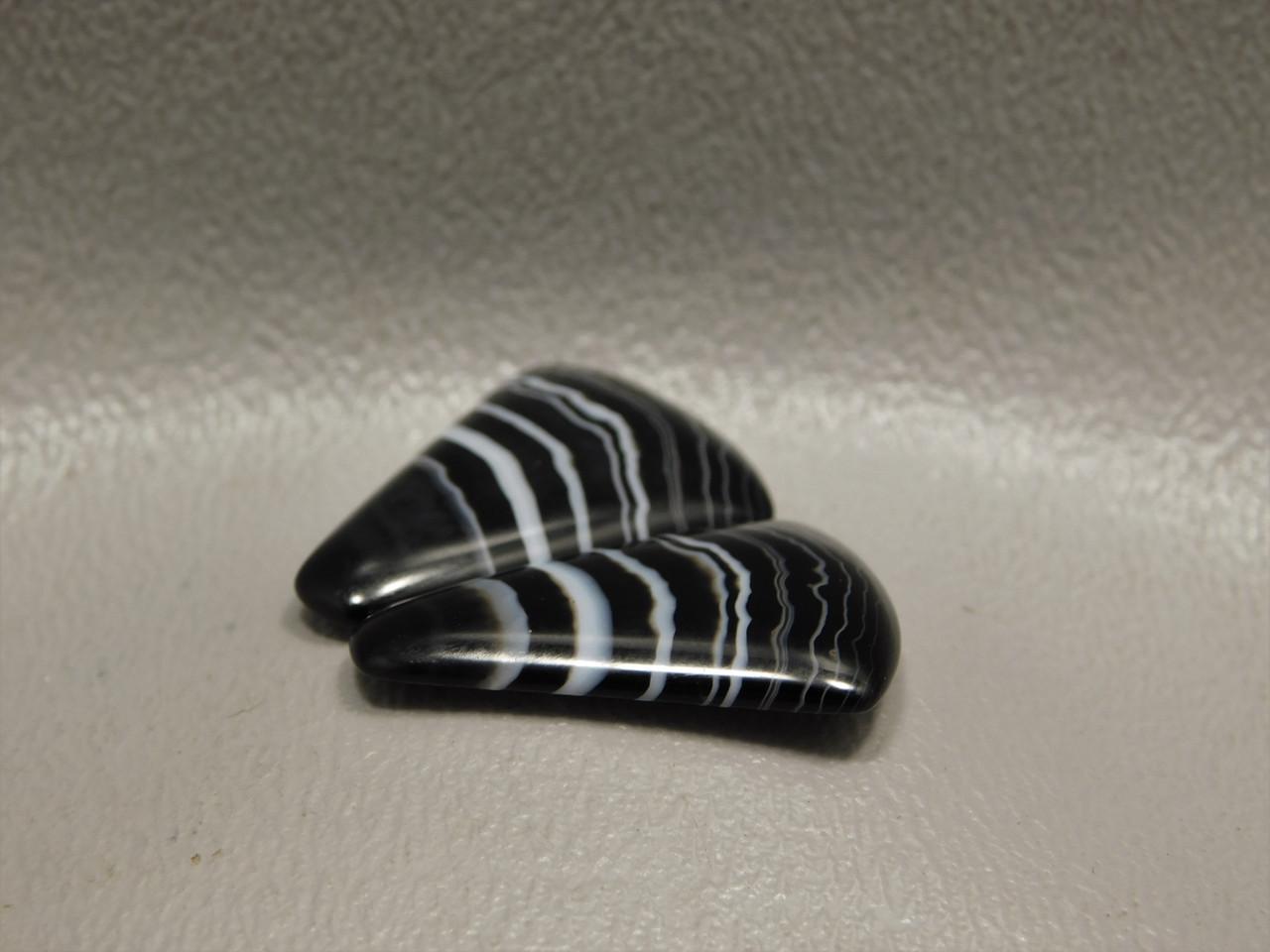 Tuxedo Agate Black and White Gemstone Cabochon #13
