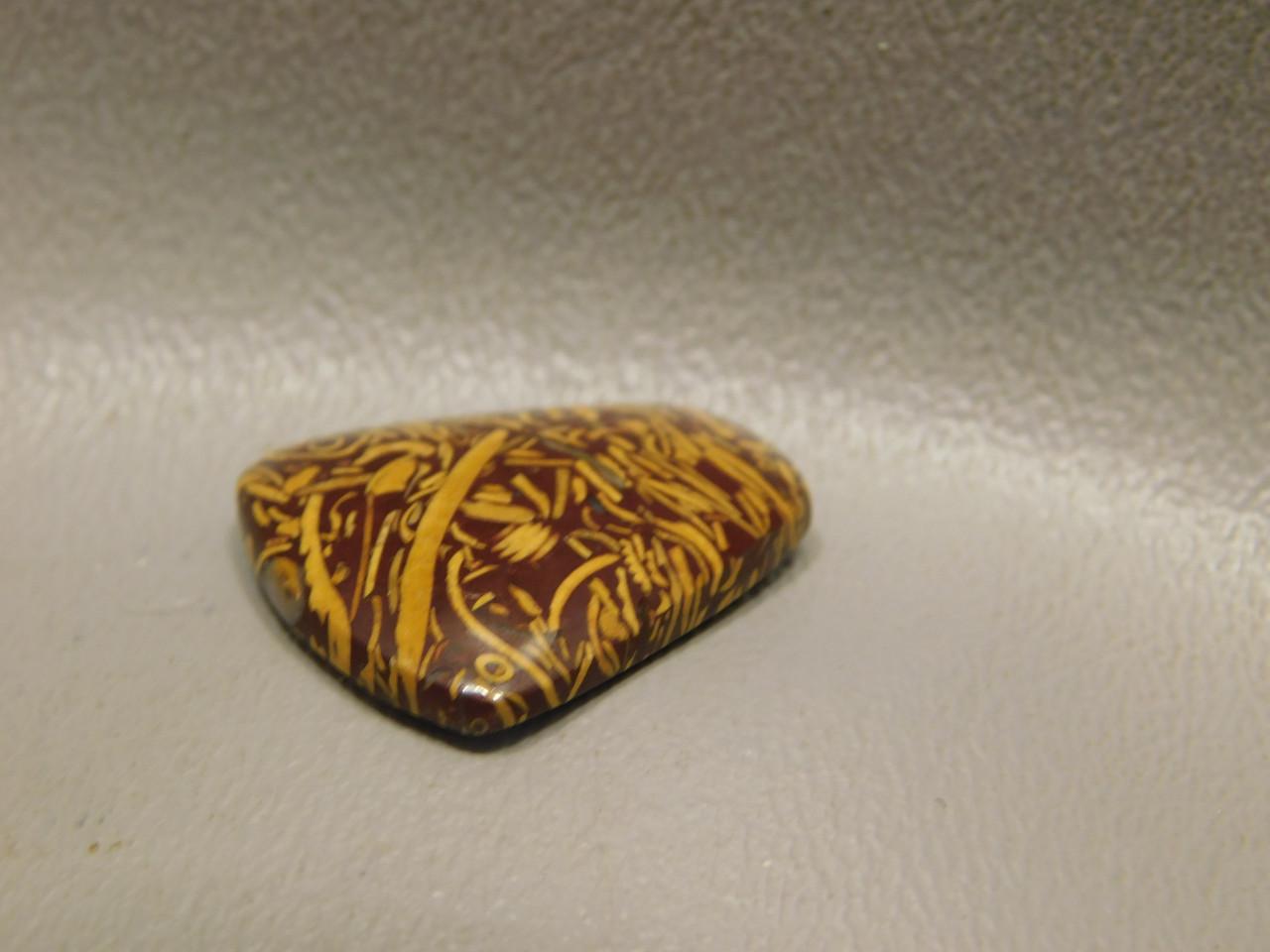 Cabochon Coquina Jasper Cobra Elephant Skin Script Stone #18