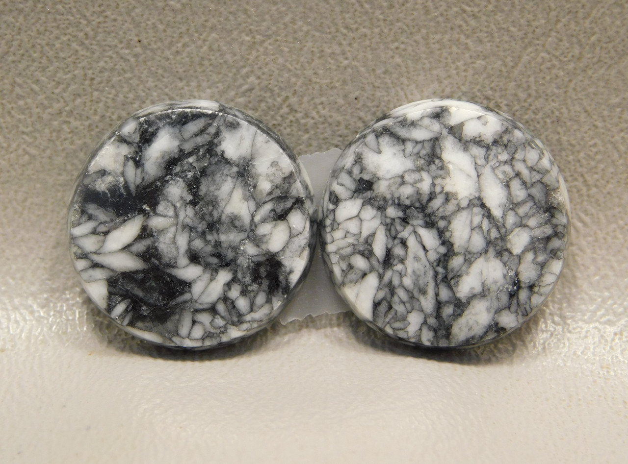 Pinolith or Pinolite Matched Pair Stone Cabochons #14