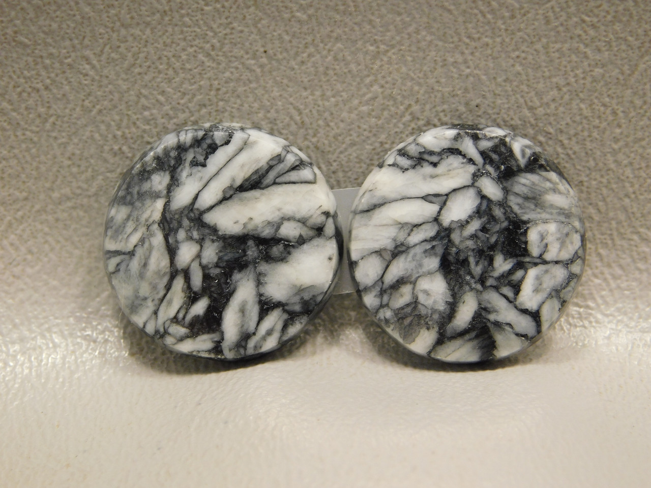 Pinolith or Pinolite Matched Pair Stone Cabochons #22