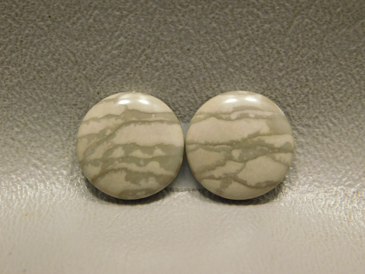 Willow Creek Picture Jasper Matched Pair 15 mm Rounds Cabochons #15