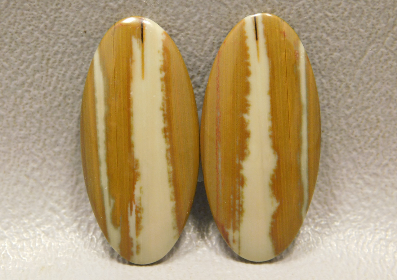 Owyhee Picture Jasper Matched Pair Cabochons Stones #20