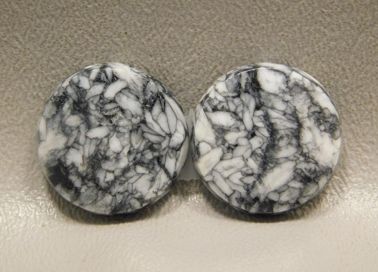 Pinolith or Pinolite Cabochons Matched Pair Austria Stones #24