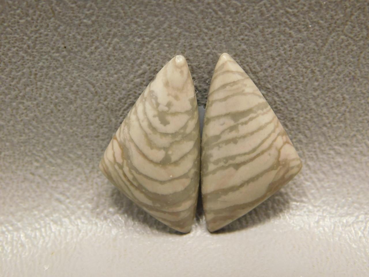 Cabochon Semiprecious Stones Willow Creek Jasper Matched Pair #18