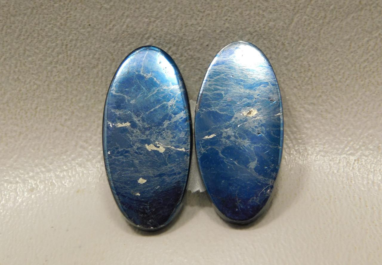 Covellite Cabochons Semi Precious Gemstone Matched Pair #18