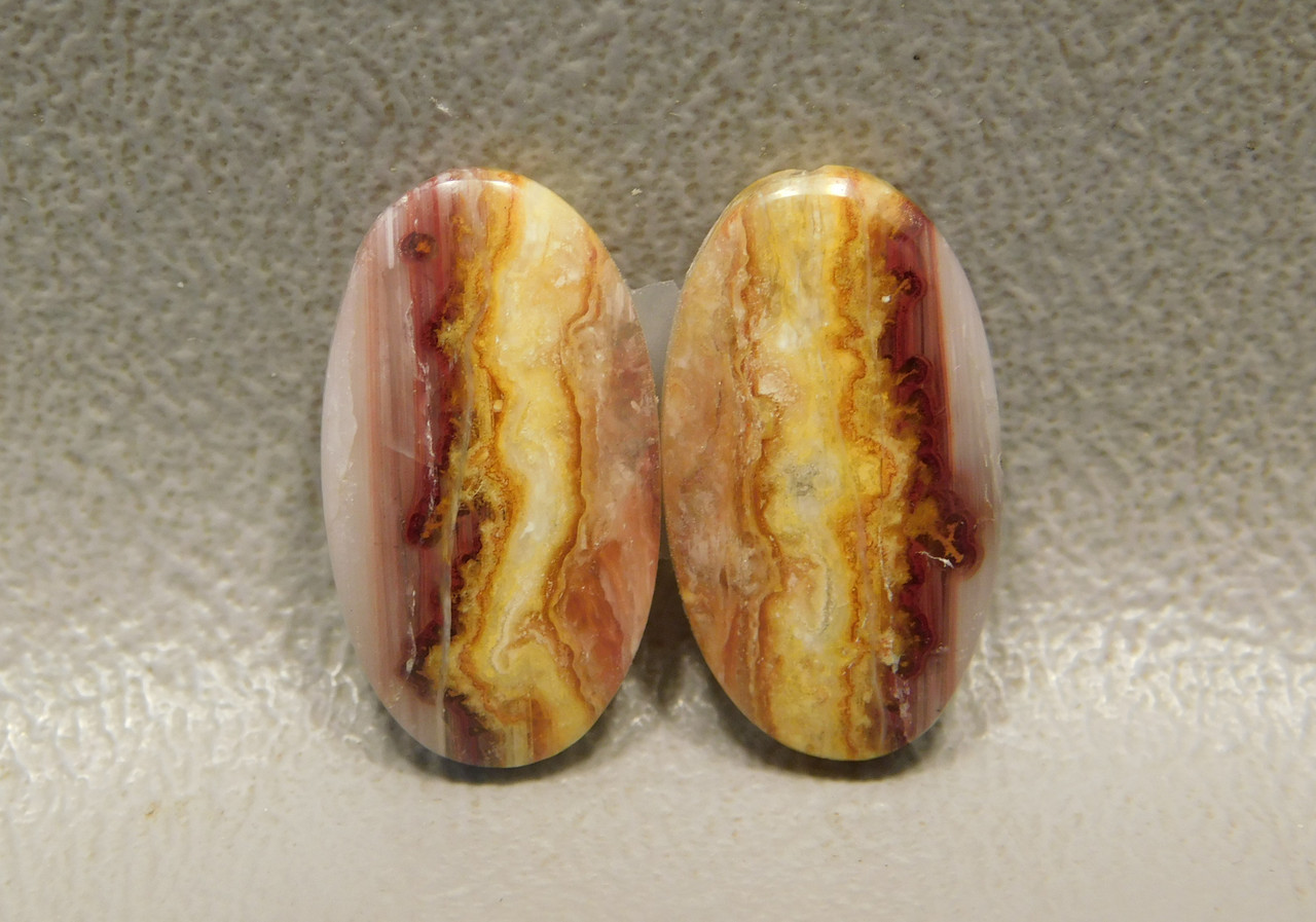 Candy Opal Matched Pair Small Cabochon Stones Halite Opal #23