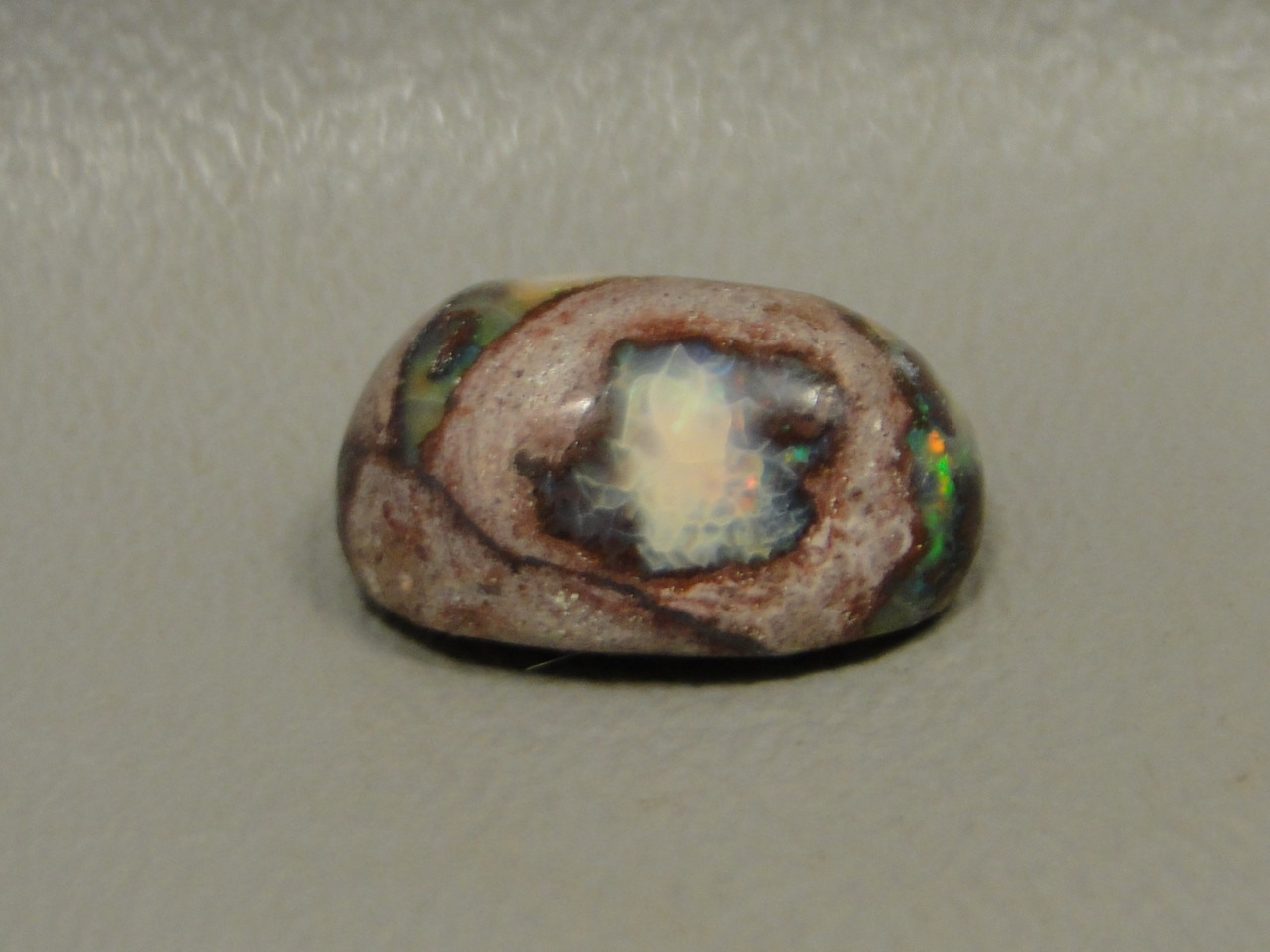 Gemstone Iridescent Mexican Fire Opal Cabochon Stone #24