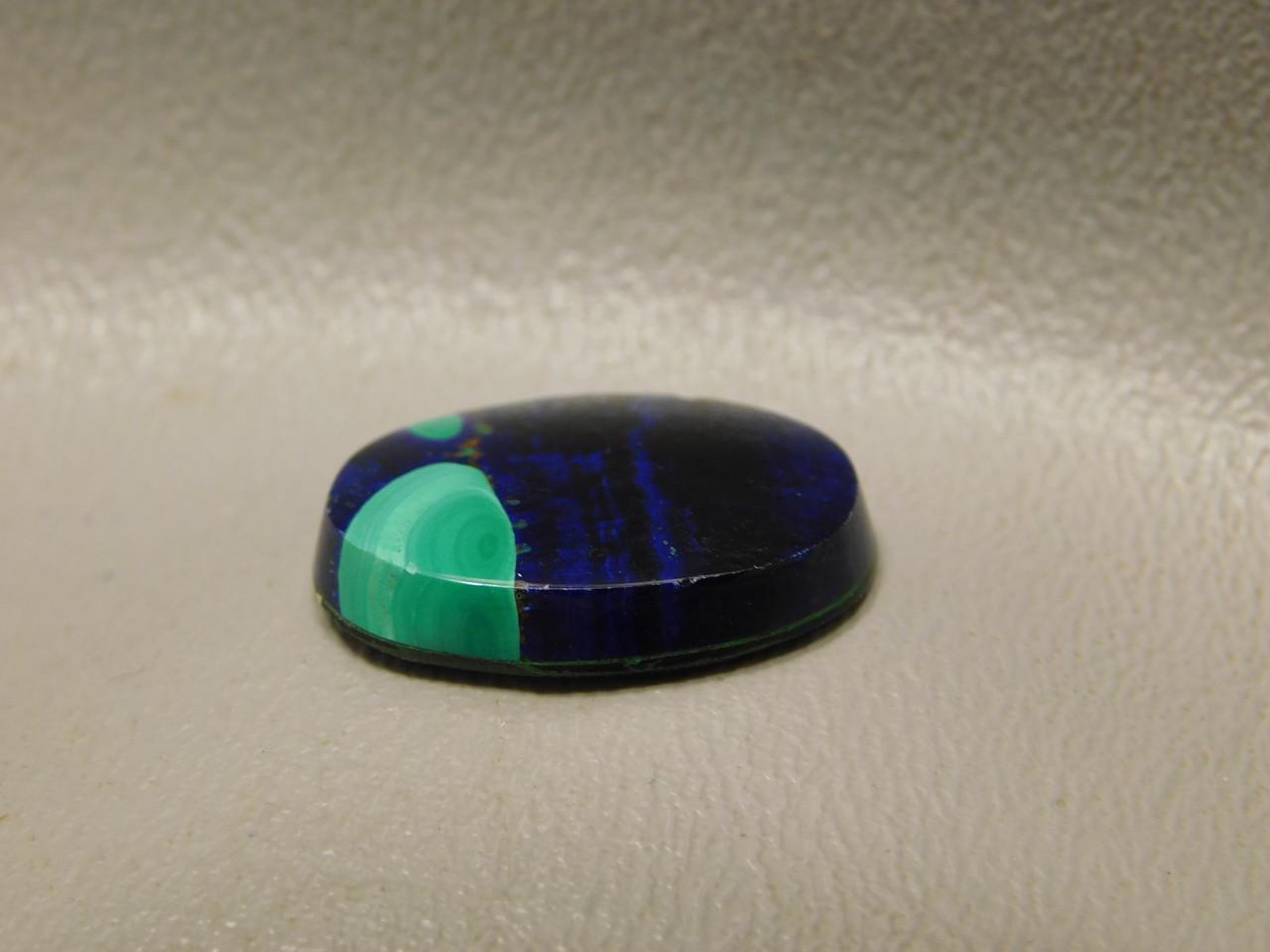 Azurite Malachite Gemstone Blue Green Small Cabochon #23