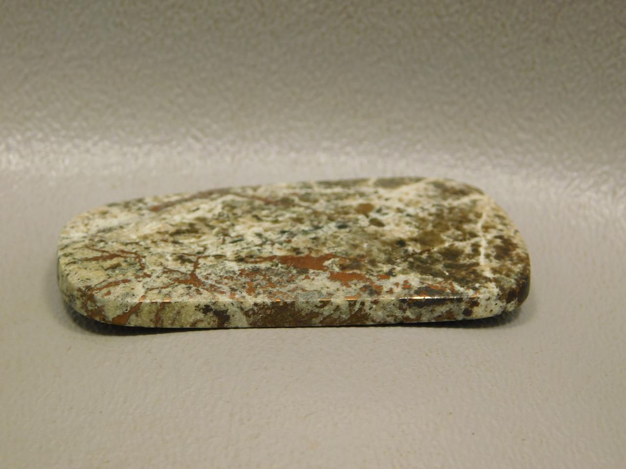 Natural Native Copper in Granite Epidote Cabochon #11
