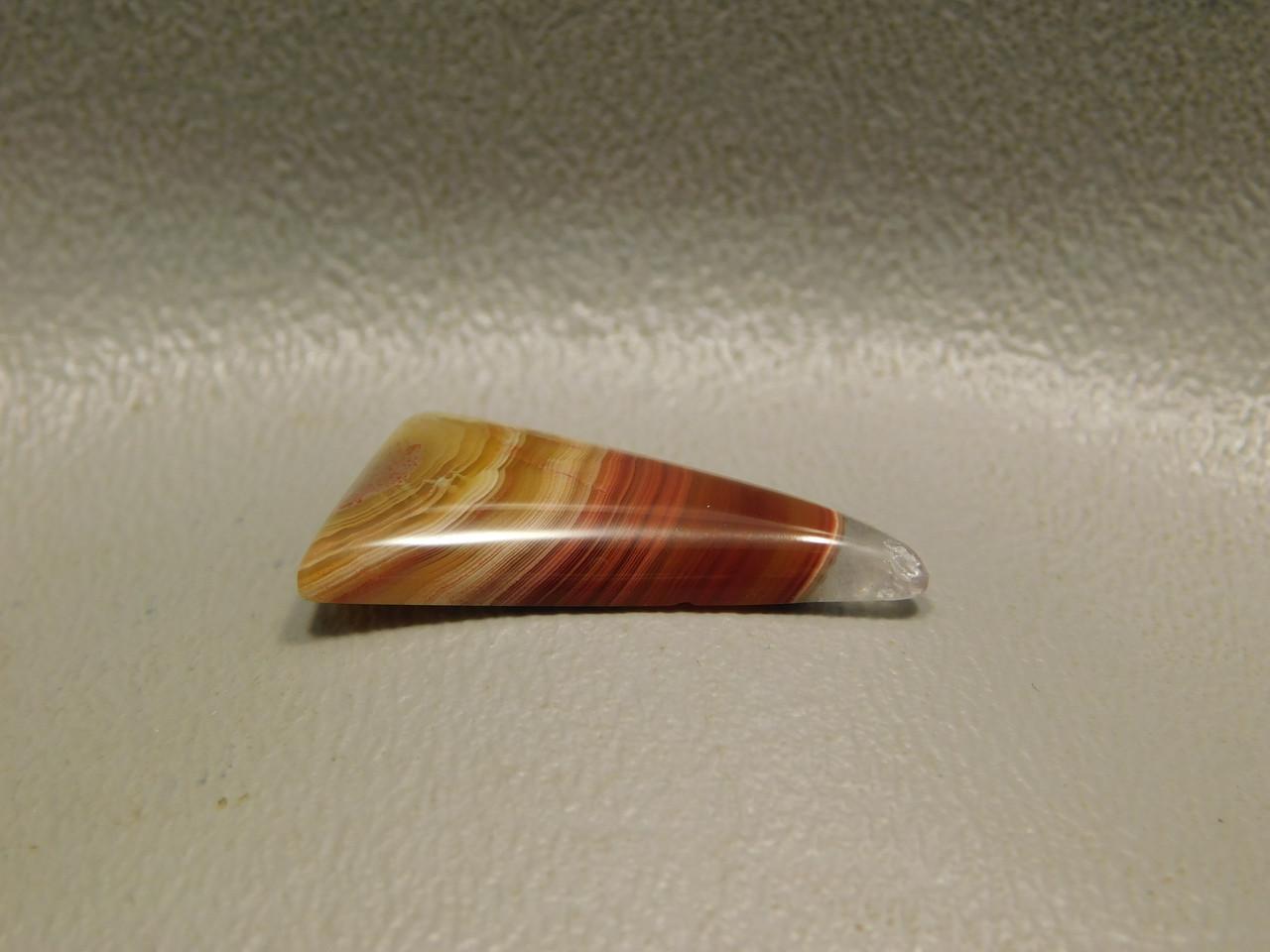 Laguna Agate Red Gemstone Triangle Cabochon #7